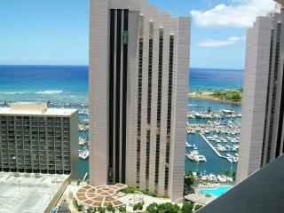 Panoramic Ocean View Waikiki Marina Studio - Honolulu vacation rentals