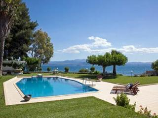 Luxury sea front villa,direct private beach access. - Eretria vacation rentals