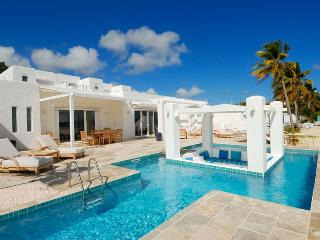 Three Bedroom Beachfront Villa SPECIAL OFFER: St. Martin Villa 171 Large Glass Doors Opening To The Outside Terrace Areas And Po - Dawn Beach vacation rentals