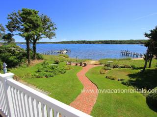 BROWN - Waterfront Beauty, Spectacular Views, A/C Bedrooms, Wifi Internet, Walk to Town - Vineyard Haven vacation rentals