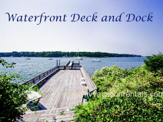 KERR4 -  Sophisticated and Charming Waterfront Cottage, Large Waterfront Deck, Dock, Tennis Court, Spectacular Views - Vineyard Haven vacation rentals