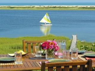 ALDEM -  Gorgeous Waterfront Home, Magnificent Views of the Atlantic,  Great Kayaking, Walk to Private Association Stonewall Beach, Hi Speed Internet, Mooring for 40 foot boat - Chilmark vacation rentals