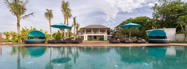 the-villa-viewed-from-the-pool - Sakovabali Villa 0008 Nusa Dua 4 BR - Nusa Dua - rentals