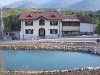 Front of Villa pond - Rural Italian Villas -1 1/2 hours east of Rome - Sulmona - rentals