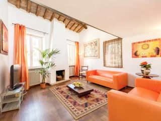 Colourful Ponte Sisto Penthouse - Rome vacation rentals