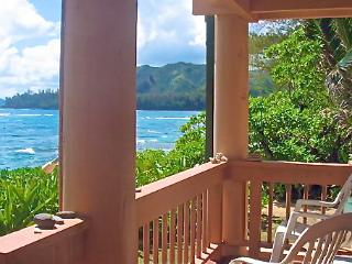 BEACHFRONT - Sunsets, Rainbows, Oceanfront - Princeville vacation rentals