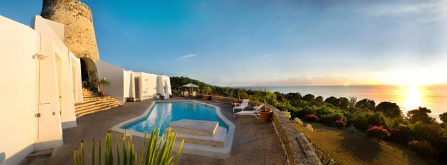 Caribbean Sea View & Sunsets! - Serene Beachside Villa Built Around Historic Mill - Frederiksted - rentals