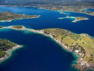 Bird's eye view of the area - Ormos Panagias, 2 bedr flat, steps from sea,  1. - Sithonia - rentals