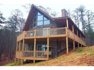 Proud A frame style chalet overlooking the lake and mountains - Cherokee Overlook  *CARTERS LAKE*  Totally Private - Ellijay - rentals