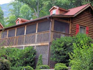 Autumn Splendor front view from 145 Boys CAmp Rd. - LOCATION! - Autumn Splendor Log Cabin w/ Mtn Views - Lake Lure - rentals