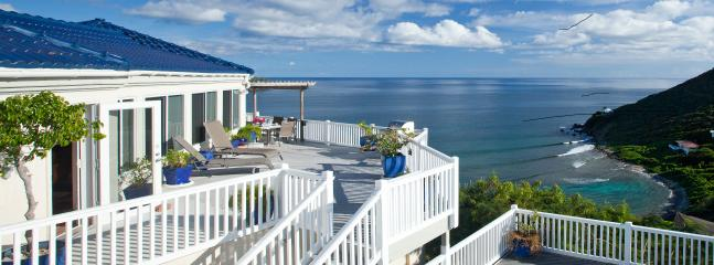 Andante by the Sea, Romantic Oceanfront Getaway, Unparalleled Views, 3 AC Bdrms, 3 ensuite Baths - ANDANTE BY THE SEA, Barefoot Luxury on Hart Bay - Cruz Bay - rentals