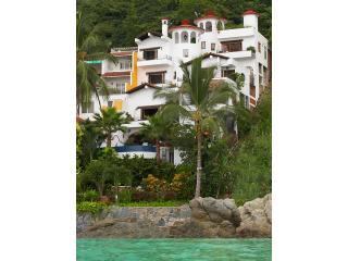 Casa Carole From the Sea Yes you get all 4 levels. Our safe, sandy beach is just to the left. - Casa Carole Luxury Beachfront Villa Full Staff - Puerto Vallarta - rentals