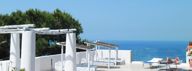 Sky sea view from the solarium, on a mediterranean ambiente - Apartments in a Botanical garden, sea view, pools. - Ischia - rentals