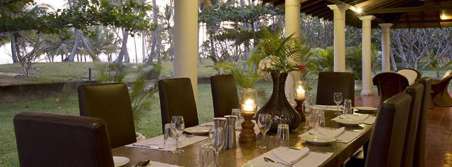 Oceans Edge-dining at dusk - Ocean's Edge - an elite haven - Rekawa - rentals