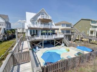 Island Drive 3574 Oceanfront! | Private Heated Pool, Hot Tub, Elevator, 2 Jacuzzis, Internet, Fireplace, Pool Table, Foosball, P - North Topsail Beach vacation rentals
