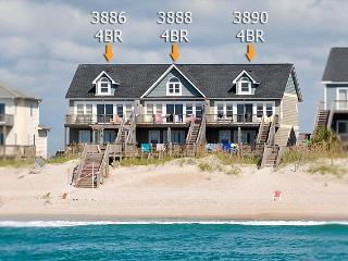 Island Drive 3886 Oceanfront! | Shared Pool, Internet - North Topsail Beach vacation rentals