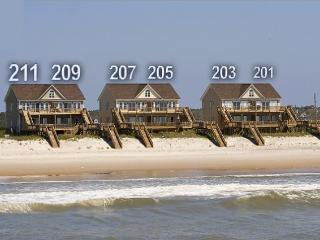 Goldsboro Lane 209 Oceanfront! | Hot Tub, Internet, Jacuzzi Discounts Available- See Description!! - North Topsail Beach vacation rentals