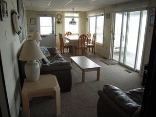 Living Room - Oceanfront Apt- Brant Beach, Long Beach Island, NJ - Decatur Island - rentals