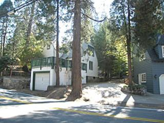 Front from Hwy 173 - TJ's Cabin at Lake Arrowhead - Lake Arrowhead - rentals
