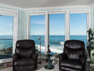 *Promo!* - Beautiful Oceanfront Condo - Indoor Pool, Hot Tub, HDTV, WiFi & More! - Depoe Bay vacation rentals