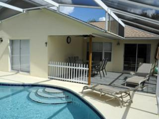 Pool showing covered Lanai area - Andy's Florida Villa - Kissimmee - rentals