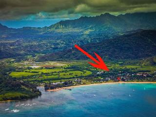 Steps to Beautiful Hanalei Bay with ocean views!!  15% off Fall Dates!! - Hanalei vacation rentals