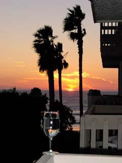 The Sunset View from our Deck in Winter - Surfer's Sunset - Oceanside - rentals
