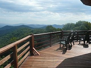 Lookout from the Top Deck - Mountaintop - Candler - rentals