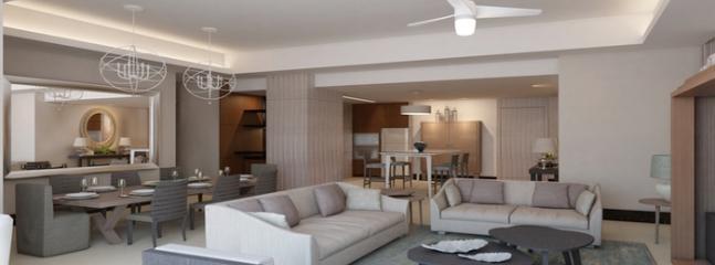 Architect's Rendering - Luxxe SPA Living Room - Luxxe SPA - 2 BR Residences, Nuevo Vallarta, MX - Nuevo Vallarta - rentals