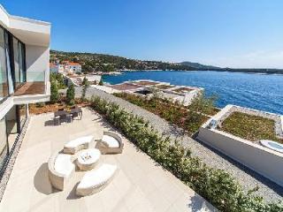 Sublime sea view Villa Annabel with sleek indoor/outdoor pool & green roof - Primosten vacation rentals