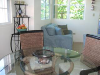 Dining Room/Living Room Area with Balcony - Three story 2bdrs/2bath on most beautiful street, below Caracol Che - Rincon - rentals