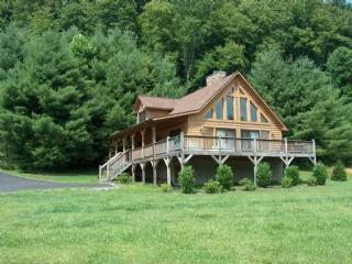 Appalachian Mist_River Front_ Log Cabin_Hot tub_Foosball_Fire pit - Blue Ridge Mountains vacation rentals
