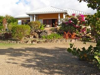house from below - Red Ginger Cottage, Jones Estate, Nevis - Nevis - rentals