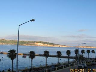 Apartment for 4, with stunning view to bay w ships - Bugibba vacation rentals