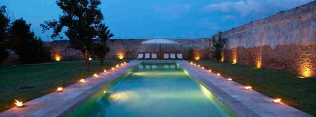 swimming pool at night - casa sale - Mesagne - rentals