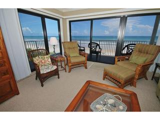 Family room boasts ocean view out of two large sliding doors - Beach Sun at Shorehom Non Driving - New Smyrna Beach - rentals