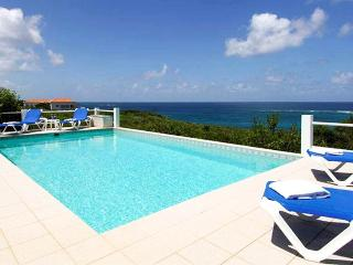 Anguilla Villa 56 The Pool Area And Gallery Offer Fabulous Ocean Views And Magnificent Sunsets. - Long Bay Village vacation rentals