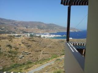View of the balcony - Ideally located, with a gorgeous view of Chora -Andros and sea. - Andros - rentals
