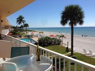 Unobstructed beach view to south - SeaHorse Beach Resort Studio 247 Longboat Key FL - Longboat Key - rentals