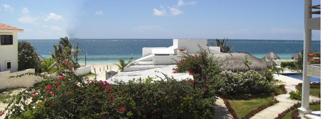 Wide Angle view from Balcony - Casita Mavisu - 2 BR Beachfront - Casita Blanca Unit C4 - Puerto Morelos - rentals