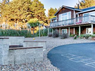 Incredible oceanview home with private hot tub & outdoor firepit await - Yachats vacation rentals