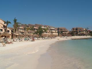 Beachfront Location with 2 Pools; Private Terrace - Puerto Aventuras vacation rentals