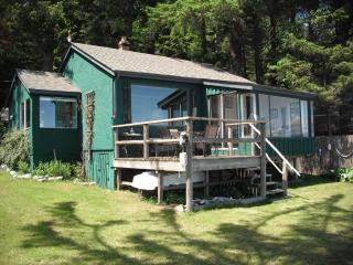 Ocean Front Beach House with Guest Cabin - Cortes Island vacation rentals