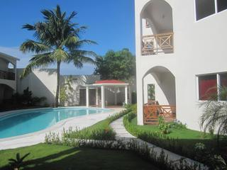 Beautiful large pool steps from your veranda - Modern new condo nestled in downtown Las Terrenas - Las Terrenas - rentals