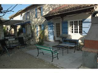 Entry & Outdoor BBQ & seating - Traditional 17c Provencal Mas, 4bed, 4bath, Pool - Rognonas - rentals