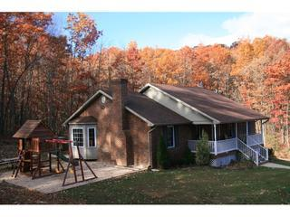 Front porch and picnic play area - Old Wagon Lodge in Shenandoah Woods - Luray - rentals