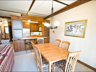 Common Area Pool and Hot Tub Available in the Summer Months - Private Patio with Outdoor Patio Set and Barbecue (6151) - Mont Tremblant vacation rentals