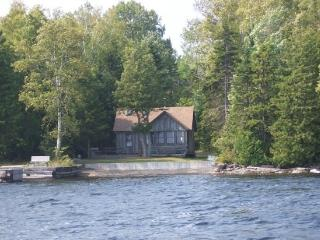 #133 Rustic camp with permanent dock and pebble beach - Maine Highlands vacation rentals