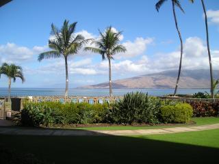 View from condo - Ocean Breeze Hideaway Maui Oceanfront  2 br Condo - Kihei - rentals
