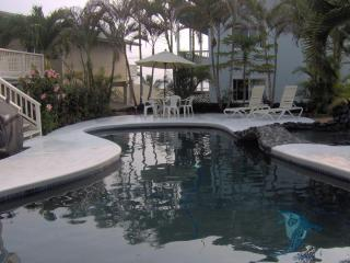 Inviting Pool area with Gas BBQ - SUMMER SPECIAL OCEAN VIEW WALK TO WHITE SANDS - Kailua-Kona - rentals